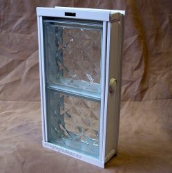 Fém üvegtégla szellőző bukókeret 2-es