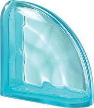 Pegasus Aquamarin Ter Curved O lezáró üvegtégla