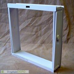 Fém üvegtégla szellőző ablak 24 cm üvegtéglához 4-es