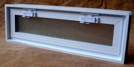 Műanyag üvegtégla ablak 58x19x8 cm méretű (fekvő )