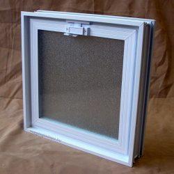 Műanyag üvegtégla ablak 38,5x38,5x8 cm méretű