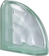 Pegasus Green Ter Curved O lezáró üvegtégla