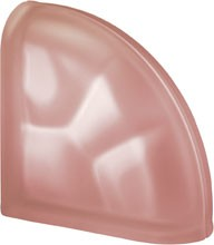 Pegasus Pink Ter Curved O Sat lezáró üvegtégla