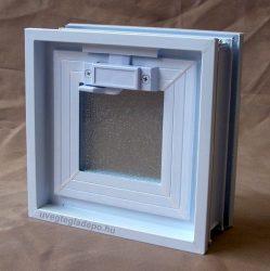 Műanyag üvegtégla ablak 19x19x8cm méretű