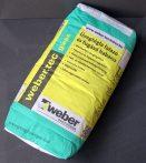 Üvegtégla ragasztó / WEBER 25 kg / fehér színű