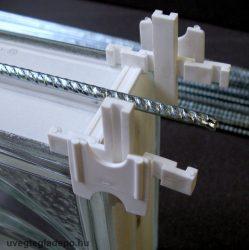 Üvegtégla merevítő vasalat 130cm