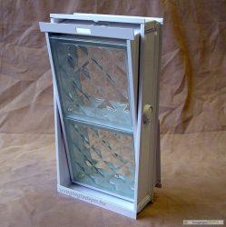 Fém üvegtégla szellőző ablak 24 cm üvegtéglához 2-es