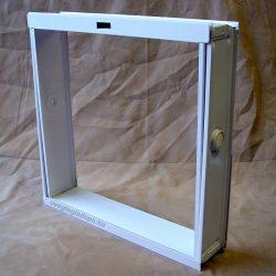 Fém üvegtégla szellőző bukókeret 4-es