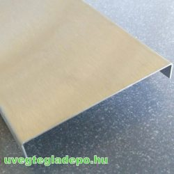 Rozsdamentes fém lezáró profil 250cm matt