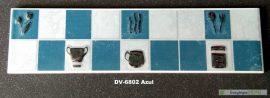 DV-6802 Azul csempedekor-listelo