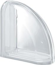 Pegasus Clear Ter Curved T két oldalon lekerekített lezáró üvegtégla