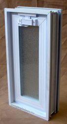 Müanyag üvegtégla ablak 19x38cm méretű (álló )