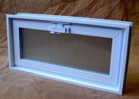 Műanyag üvegtégla ablak 48,5x24x8 cm méretű ( fekvő )