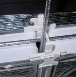 Üvegtégla merevítő vasalat 250cm