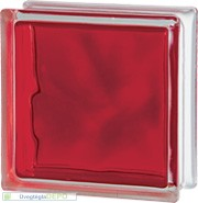 Brilly Red 1919/8 Wave üvegtégla
