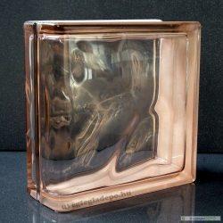 Pink 1919/8 Linear end Wave lezáró üvegtégla