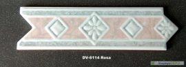 DV-6114 Rosa csempedekor-listelo