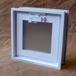 Műanyag üvegtégla ablak 24x24x8 cm méretű