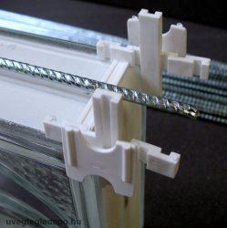 Üvegtégla merevítő vasalat 50cm