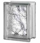 14,6x19,7x9,8 cm méretű színtelen fényes felületű üvegtéglák