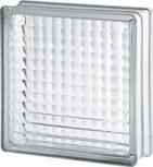 24x24x8 cm méretű színtelen fényes felületű üvegtéglák
