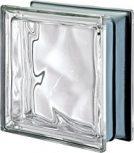 PEGASUS metál ezüst élfestésű színtelen üvegtéglák